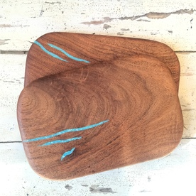 Mini Cutting Board with Turquoise Inlay