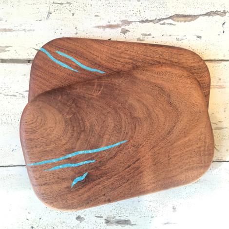 Mini Cutting Board with Turquoise Inlay