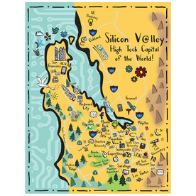 Silicon Valley Tea Towel