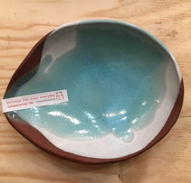 Small Nesting Glazed Ceramic Bowl