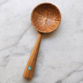 Cherry and Turquoise Coffee Scoop
