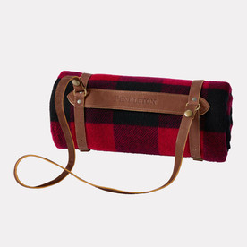 MOTOR ROBE WITH LEATHER CARRIER -Rob Roy Tartan