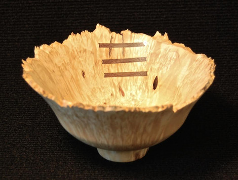 Natural Edge Bowl with Three Stitches   Jerry Kermode