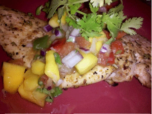 REC TEC Grilled Chicken with Mango Salsa is a refreshing main course that is perfect for summertime.