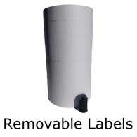 REMOVABLE white labels for Monarch 1136
