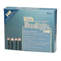 Light Set- 140ct Teeny Bulbs Green Wire
