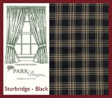 "Sturbridge Black Lined Panels 72"" x 63"""