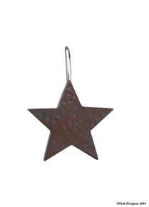 Red Star Shower Curtain Hooks
