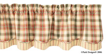Lemon Pepper Lined Layered Valance 72x16