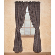 "Sturbridge Navy Lined Drapes 72"" x 84"""