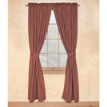 "Sturbridge Wine Lined Drapes 72"" x 84"""