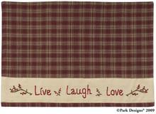 Sturbridge Live Laugh Love Placemat