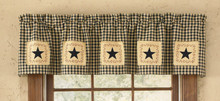 Star Patch Lined Valance 60x14