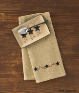 Dishtowel- Burlap Star Berry- Park Designs