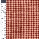 Wine and Natural Check Fabric 807952000559