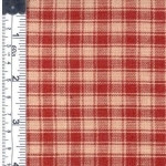 Red/Natural Check Rustic Woven Fabric