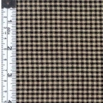 Black/Natural Rustic Woven Fabric
