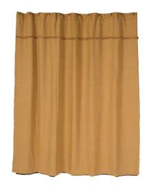 Shower Curtain- Burlap Natural- 72x72- Victorian Heart (full view)