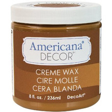 Americana Decor 8oz Golden Brown Creme Wax