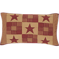 Luxury Sham- Ninepatch Star- 21x37-VHC