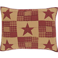 Sham- Ninepatch Star- Quilted- 21x27-VHC