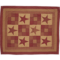 Ninepatch Star Quilted Throw-50x60-VHC