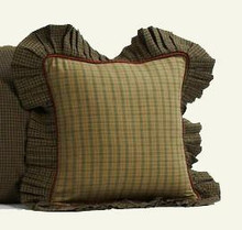 "Pillow-Tea Cabin- Fabric Ruffle- 16""-VHC"
