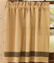 "Tiers- Burlap & Check- Black- 72""x36""-Park Designs"