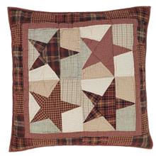 Quilted Euro Sham- Abilene Star- 26x26- Victorian Heart