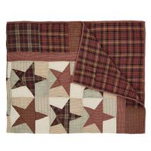 Quilted Throw- Abilene Star- 70x55- Victorian Heart