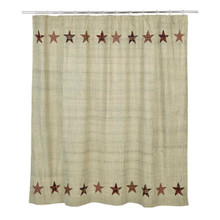 Shower Curtain- Abilene Star- 72x72- Victorian Heart