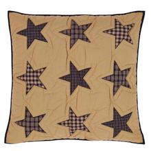 Quilted Euro Sham- Teton Star- 26x26- Victorian Heart