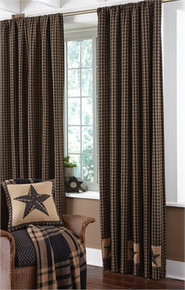 "Lined Panels- Sturbridge Patch Black- Single- 56""x84"""
