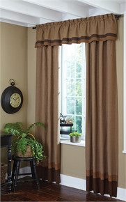 "Lined Border Valance-72""x14""-Shades of Brown-Park Designs (384-47X)"