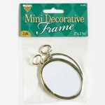 "Mini Decorative 2 3/4"" Oval Frame 2pk"
