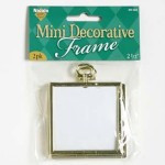 "Mini Decorative 2.5"" Square Frame 2pk"