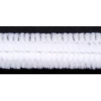 6mmx12in White Chenille Stems 25ct