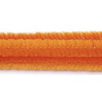 6mm x 12in Orange Chenille Stems 25ct