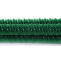 6mm x 12in Christmas Green Chenille Stems 25ct