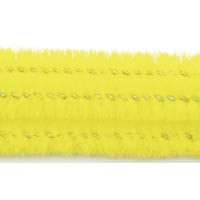 15mm x 12in Yellow Bump Chenille Stems 12ct