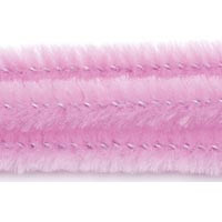 15mm x 12in Pink Bump Chenille Stems 12ct