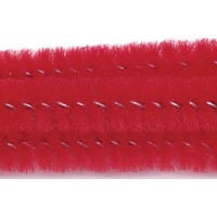 15mm x 12in Red Bump Chenille Stems 12ct