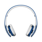 Air-Fi® AF80 Rumble Enhanced-Bass Bluetooth Wireless Stereo Headphones with Headset Functionality Blue