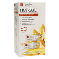 Neti Salt Plus:  60 count Sachets  60 Sachets for premixed USP grade (purity level 99% or higher) sodium chloride and sodium bicarbonae mixture.   Refills for the Neti Pot or Bottle.  Soothes dry nasal passages, removes excess mucus and provides natural relief from allergy, cold, ful and sinus symptoms.