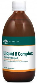 Liquid B Complex Vitamin Supplement- 15.2 fl oz ( 450 mL ) By Genestra Brands Natural Cherry Flavor
