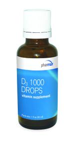 D3 1000 Drops - 1 fl oz By Pharmax