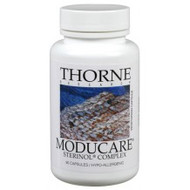 Moducare®  Plant sterols and sterolins - an important advancement in naturally balancing the immune system*  found naturally in all fruits and vegetables provides an optimal sterol:sterolin ratio based on numerous clinical studies helps maintain a healthy balance of T-helper 1/T-helper 2 white blood cells* modulates a stress response by supporting optimal DHEA:cortisol ratios* Product Information  Moducare is a blend of plant sterols and sterolins that can help promote a balanced immune system.* Plant sterols – phytosterols and their glycosides (also known as phytosterolins) – are fats that are present in fruits, vegetables, and medicinal plants. Beta-sitosterol (BSS) and its glycoside (BSSG) are the most abundant of these plant sterols. BSS and BSSG, even at very low levels, have been shown to enhance the activity of various cells in the body recognized as having positive immune system activity.*  Moducare supplementation also helps maintain a normal ratio of the adrenal hormones cortisol and DHEA, subsequently buffering negative stress responses.* Moducare also improves the balance of T-helper 1 to T-helper 2 cells, as a result enhancing cellular immunity and down-regulating overactive immune responses.*  Moducare's potential to promote immune health in a group of volunteers participating in an ultra-marathon was investigated in a double-blind, placebo-controlled study. Subjects in the Moducare group maintained a more healthy immune response compared to individuals taking the placebo. The benefit to the immune system was believed to be because cortisol levels did not increase in response to the exercise stress in those taking Moducare.*  Ingredients  One Capsule Contains: Sterols (from pine)* 20 mg. Sterolins* 200 mcg.  Other Ingredients: Microcrystalline Cellulose, Hypromellose (derived from cellulose) capsule, Leucine, Silicon Dioxide.  *This product contains Sterinol Complex from Essential Phytosterolins, Inc. Moducare is a registered trademark of Rooperol (NA) NV LLC.    Suggested Use  Take 1 capsule three times daily away from food or as recommended by a health-care practitioner. Do not take with milk.
