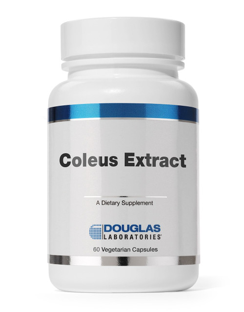 Coleus Extract 125 mg by Douglas Labs  60 caps  Coleus Extract vegetarian capsules, provided by Douglas Laboratories, contain 250 mg of Coleus forskohlii leaf extract, standardized to a minimum of 10% forskolin.  This product is traditionally known to assist in cardiovascular concerns such as congestive heart failure, cardiomyopathy, asthma, digestive disturbances, glaucoma, Erectile Dysfunction (ED), low libido, low testosterone, body weight management by assisting with cAMP production which stimulates the body to burn fat for fuel.  Other names commonly used for this herb are:  Borforsin, Coleus, Coleus barbatus, Coleus forskolii, Coleus forskohlii, Colforsin, Colforsine, Forskohlii, Forskolin, Forskolina, Forskoline, and Plectranthus barbatus.  Douglas Labs Coleus Forskohlii is available only through physicians due to superior product guarantee of active ingredient bio-availability, proven amount and concentration of the label ingredients, and guarantee for potency and quality.  When selecting herbal products, choose the best products made by a company who supplies physicians.    Don't settle for an inferior product by purchasing products from random company websites or big box well known name stores who have been proven by the New York Attorney General to carry and sell products proven by laboratory testing to have limited to no active or actual label ingredients.  We only recommend products made available only to physicians, so choose our products for the knowledge that you will obtain full label strength of any products we carry!