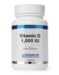 Vitamin D 1,000 I.U. by Douglas Laboratories 100 Tablets