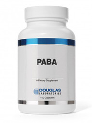 PABA 500 mg 100 Capsules from Douglas Labs can potentially promote the production of folic acid in your body. This production may be helpful in areas of hair' skin' and digestive health. Para-aminobenzoic acid (PABA) is typically grouped in with the B-vitamin family even though it isn't a true vitamin. It is required for healthy folic acid levels' which are needed for aspects of cell division and blood cell health.  Para-aminobenzoic acid is typically found in foods like brewer's yeast' rice' eggs' liver' wheat germ' and molasses. Some of these ingredients may not be a common part of your daily diet so a supplement like PABA from Douglas Labs may be a great choice if you want to supplement this nutrient. PABA may also support skin by making it less sensitive to UV radiation in sunlight.  PABA 500 mg 100 Capsules from Douglas Labs are GMP certified and manufactured to the highest standards. This quality supplement is also free from any type of artificial colors and preservatives. Help support areas of your hair' skin' and digestive health. Order from PureFormulas today! Orders placed by 5 PM EST ship same day!  1 Capsule Contains:  PABA ........................................................ 500 mg   Adults take 1 capsule daily or as directed by physician.   KEEP OUT OF REACH OF CHILDREN.  Artificial Color Free Artificial Flavor Free Corn Free Dairy Free Gluten Free Milk Free Sodium Free Starch Free Sugar Free Wheat Free Yeast Free Artificial Preservative Free Soy Protein Free  These statements have not been evaluated by the Food and Drug Administration (FDA). These products are not meant to diagnose' treat or cure any disease or medical condition. Please consult your doctor before starting any exercise or nutritional supplement program or before using these or any product during pregnancy or if you have a serious medical condition.